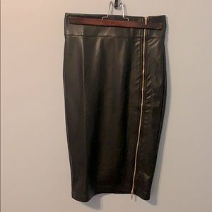 2 for 15! Faux Leather Pencil Skirt